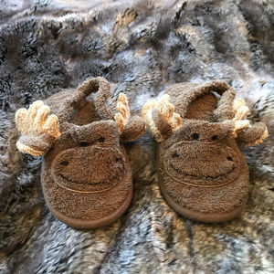 Happy Moose RH Children Slippers, size 4-6 years